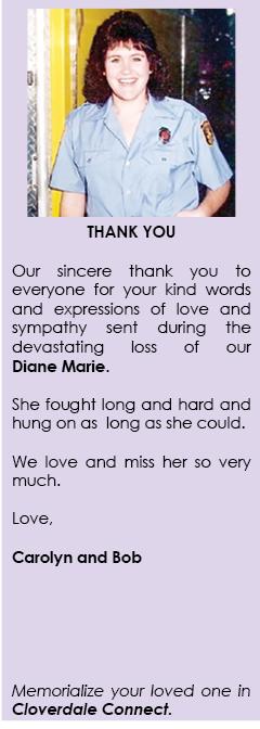 Diane Marie, Celebration of Life
