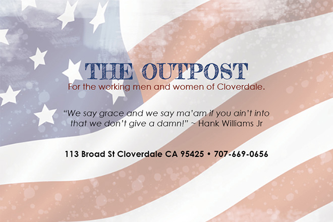 THE OUTPOST, CLOVERDALE, CA