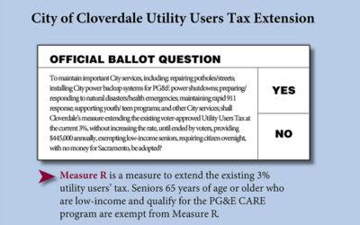 Cloverdale Measure R Voting Information